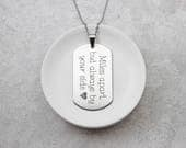 Engraved Dog Tag Necklace - Personalized Necklace - Necklace For Him - Name Necklace - Personalized Dog Tag - Stainless Steel Necklace