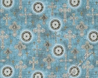 Cross fabric | Etsy : religious quilting fabric - Adamdwight.com