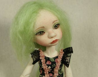 OOAK doll, BJD Leonie, little green fay, art doll full set, Artist doll BJD by miradolls, slim YoSD 1/6