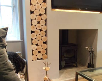Chunky CIRCULAR Decorative Logs - Real Wood - Round - Logs for Display - Log Stack - Interior Feature - Fill a Fireplace - Fill an Alcove