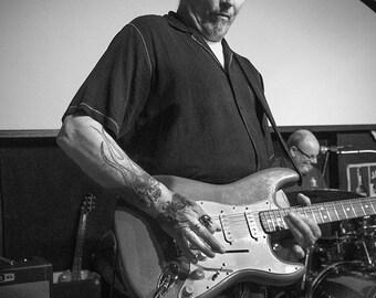 Rock Star, Nicholas DelDrago Plays, Clyde Keller 2017 photo, B&W print
