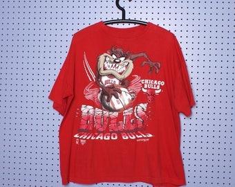 1994 CHICAGO BULLS TaZ T-shirt Space Jam