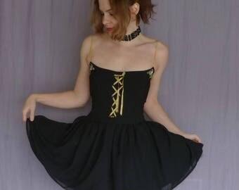 Chickadee Black Couture Corset Dress by Tsukatta