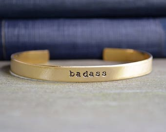 Badass Bracelet - Feminist Bracelet - Gifts for Feminists - Female Empowerment - Funny Jewelry - Funny Bracelet - Empowering
