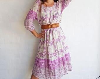 Vintage Indian Gauze Cotton Dress