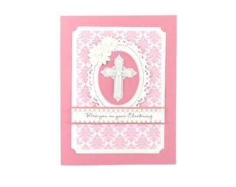 Christening card, Christening card for girls, Christening card goddaughter, Christening card for granddaughter, Christening gift
