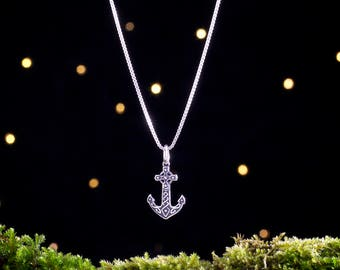 Sterling Silver Celtic Anchor - Small, Double Sided - (Charm or Necklace)
