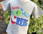 Ofishally One Shirt - The Big One Shirt - Bobber Fishing Shirt - Ofishally One Party - First Birthday - Personalized - Boys Fishing Shirt