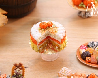 MTO-Candy Corn Colours Layer Cake - 12th Scale Miniature Food