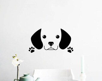 Cute Beagle Puppy Wall Decal
