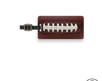 Luggage Tag American Football Pigskin Sports Lover Metal Luggage Tag  With Custom Info On Back, Single Tag