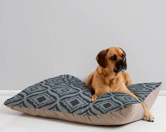 Stylish Dog Bed // Dog Bedding // Pet Pillow // Trevino Dusk Design // Midcentury Modern Pet // Dog Bed // Dog Pillow // Pet Cushion // Blue
