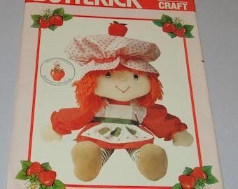 Uncut Strawberry Shortcake Doll Pattern Butterick 6173