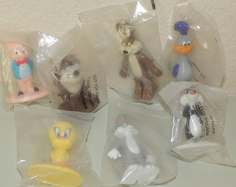 7 Vtg Fast Food Toys in Original Bags