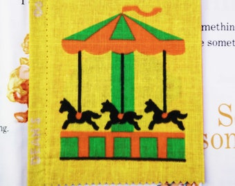 Vintage Cloth Book, deans rag book, vintage rag book, new old stock, cloth book, rag book, merrygoaround, childs book, 1950s child book