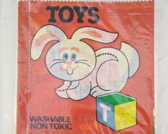 Vintage Cloth Book, SP cloth/rag book, vintage rag book, new old stock, cloth book, rag book, toys, vintage child book, cloth child book