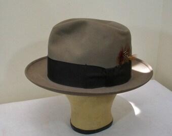 Vintage Resistol Kitten Finish Beaver Fifteen Gray Fedora in Hat Box