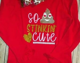 RTS Valentine Ruffle Shirt Emoji design