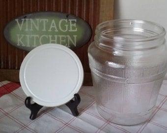 Vtg Ball Hoosier Pickle Barrel Screw Top Large Glass Craft Storage Jar 2863