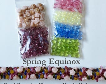 Spring Equinox Beaded Kumihimo Focal Grouping Kit, Beads Only, Tutorial Sold Separately