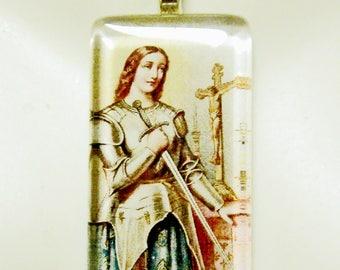 Saint Joan of Arc pendant with chain - GP01-015