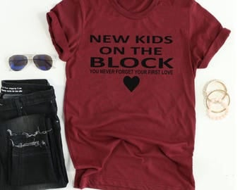 New Kids on the Block Tee // NKOTB Tee // Boy Band Shirt // First Love Shirt // Women's gift