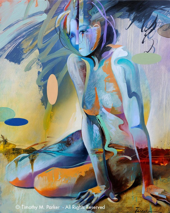 Figures Abstract Figure Art Modern Figure Painting-4768