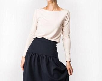 SALE - Blue skirt | Designer skirt | Elegant skirt | LeMuse blue skirt