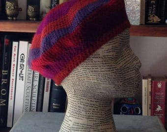 Purple and Red Beret
