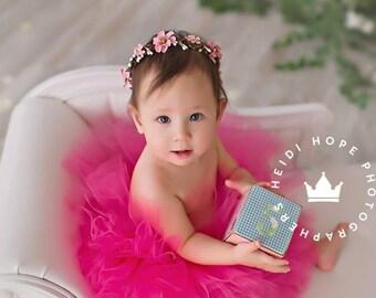 Hot Pink Tutu   Pink Baby Dress   Birthday Tutu   Baby Tutu Skirt   1st Birthday Outfit