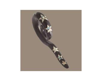 Wailuku Horn and Avalon Shell Gauge Earrings, Split hook, Tribu, Ear gauges, Ear stretcher