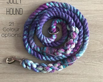 8mm Galaxy Rope Dog Lead / 8mm rope leash / rope lead / dog lead / dog leash / rope dog lead / puppy lead/ soft lead / tie dye / dyed lead