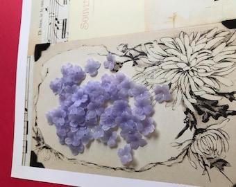 Dogwood flowers, Vintage Flower Beads, Lucite flowers, 11mm Flowers, Matte purple flower beads, Old Fashioned flowers,Bead Caps, #316
