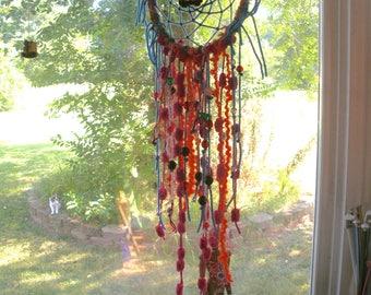 Dreamcatcher, mandala, VW Bus, Road Trip Hippie, Barefoot Home, Yoga, Manifest, Energy Art, Feng Shui, Peace Love Art