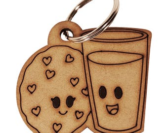 Milk and Cookie Keychain
