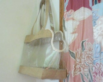 Canine Carry Tote * Refashioned clear companion tote