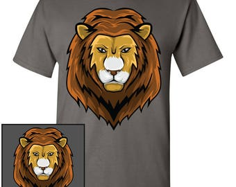 Majestic Lion Head Custom T-Shirt - Men Women Youth Long Sleeve Personalized Tee, African lion king jungle