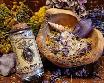 The Healer ~ Aromatherapy Bath Salts ~ Renewing for the Mind, Body and Spirit~ Ritual Bath ~