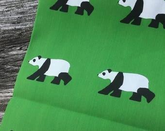 Giant Panda Linen Tea Towel by SBMathieu
