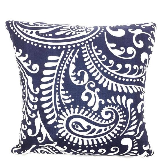 Pillow Covers Navy White Throw Pillow Cushions Vintage Indigo