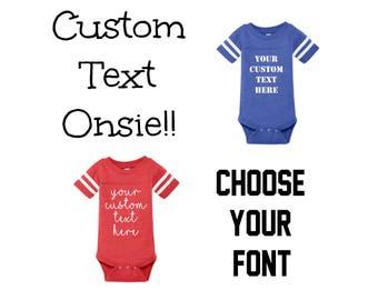 Custom Baby Onsie, Custom Text Onsie, Baby Gifts, Baby Onsie, Personalized Onsie