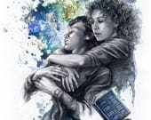 """Doctor Who art print: """"Time And Space"""""""