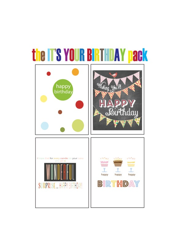 Birthday Card Pack Birthday Greeting Cards Happy Birthday – Packs of Birthday Cards