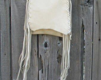 ON SALE Leather handbag , Crossbody phone bag , Fringed leather handbag, Custom handbag, Crossbody purse, Simple leather purse , Leather pho