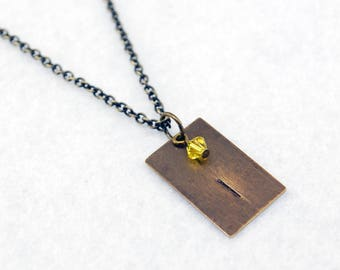 Team Instinct Inspired Pokemon Go Necklace in Antique Brass - Team Instinct Necklace, Team Instinct Jewelry, Pokemon Go Jewelry