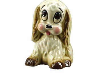 Vintage Retro Big Eyed Sad Eyes Puppy Dog Baby Nursery Pottery Planter Hall Pottery Kitsch Cottage Chic ATCTTEAM TNTEAM