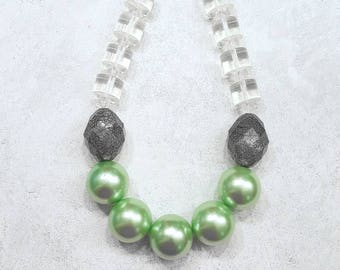 Huge Bead Chunky Pearl Fashion Statement Necklace