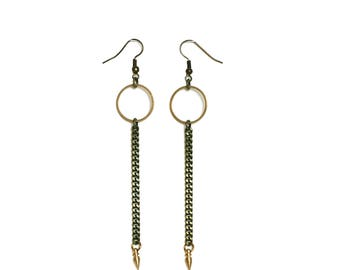 Avery Spike Drop Earrings