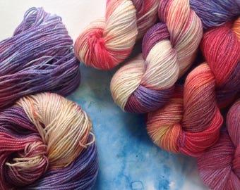FAIRY TALES - Ramie/wool sock yarn Hand dyed