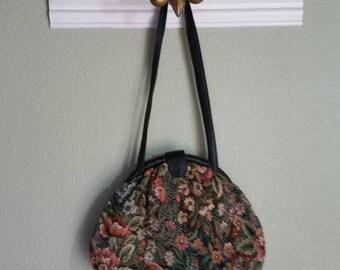 Vintage Tapestry Shoulder Bag, Circa 70s/80s
